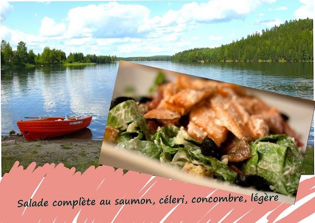 salade complète au saumon sauvage, sans gluten