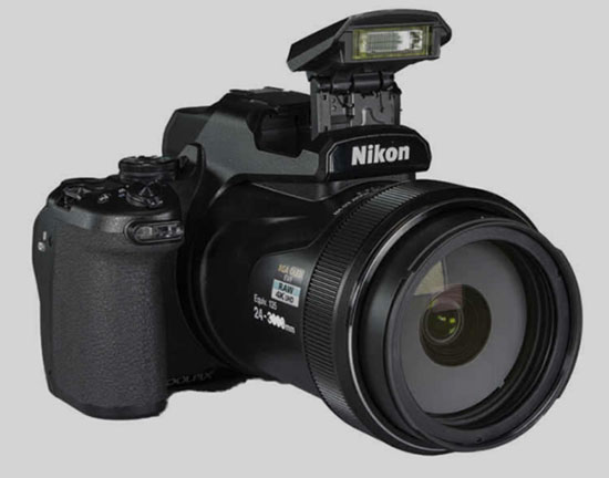 Nikon Coolpix P1000 superzoom, 24-3000mm focal length camera