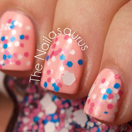 Bubble Gum Nail Art: JENsations Bubble Gum Swatch - The Nailasaurus