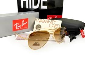 8fa08739a36 Ray Ban - Diamond Hard Gold Frame