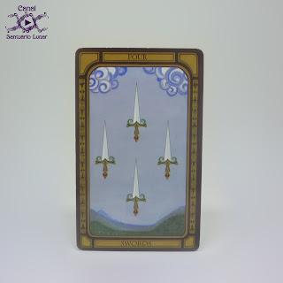 The Golden Tarot (CICO Books) - 4 of Swords