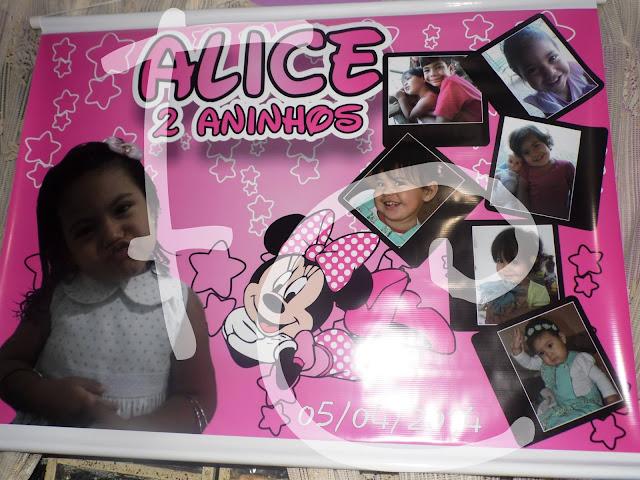 Banner - Tema Minnie Rosa
