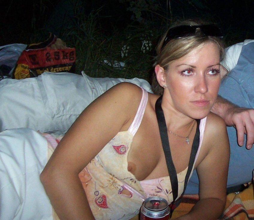 Commit Drunk girl nipple slips