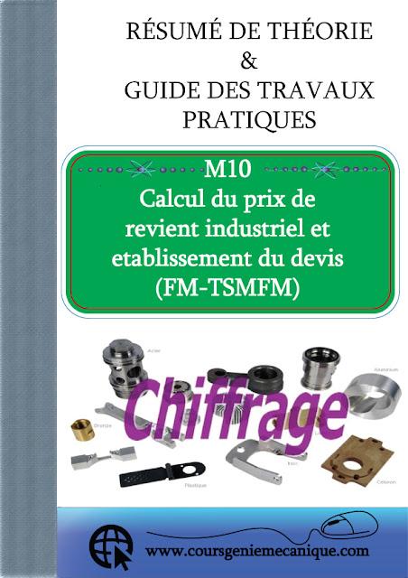 Télécharger M10 Calcul du prix de revient industriel et etablissement du devis en PDF