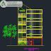 مخطط عمارة سكنية 4 طوابق اوتوكاد dwg