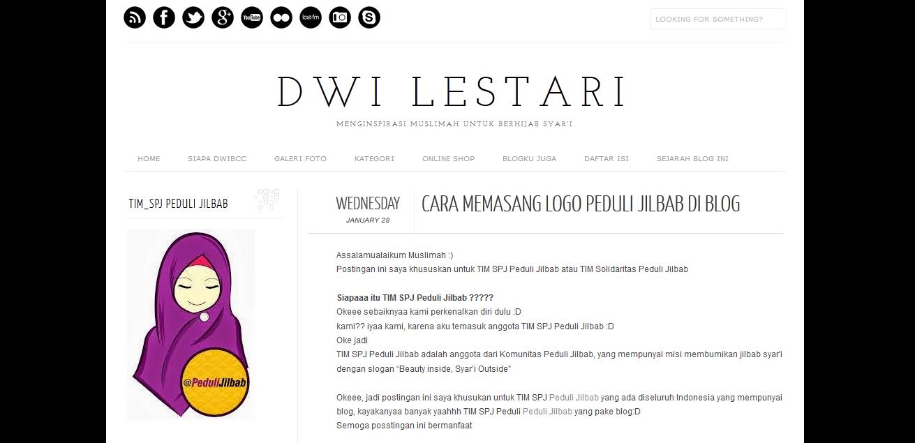 cara memasang logo perduli jilbab di blog