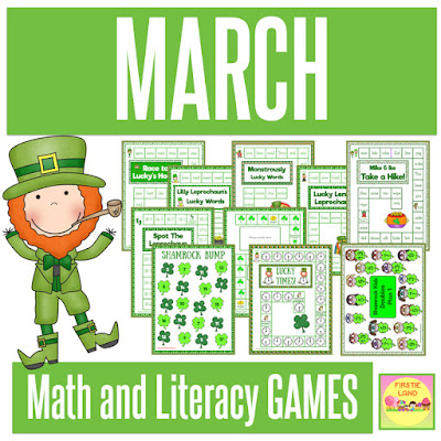 March Math & Literacy Games