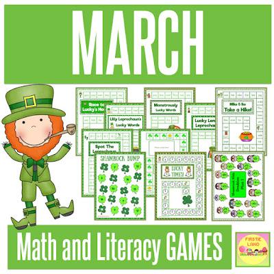 March Math & Literacy Games