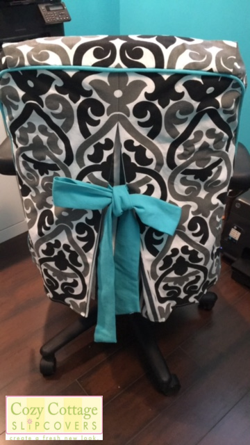 I Can Make Office Chair Slipcovers For Out Of State Customers. I Will Ask  For A Couple Measurements To Get A Custom Fit. The Seat Has Two Velcro  Straps To ...