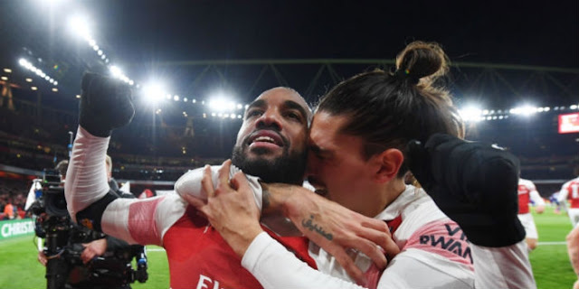 Lacazette and Bellerin arsenal 1 - 1 Liverpool