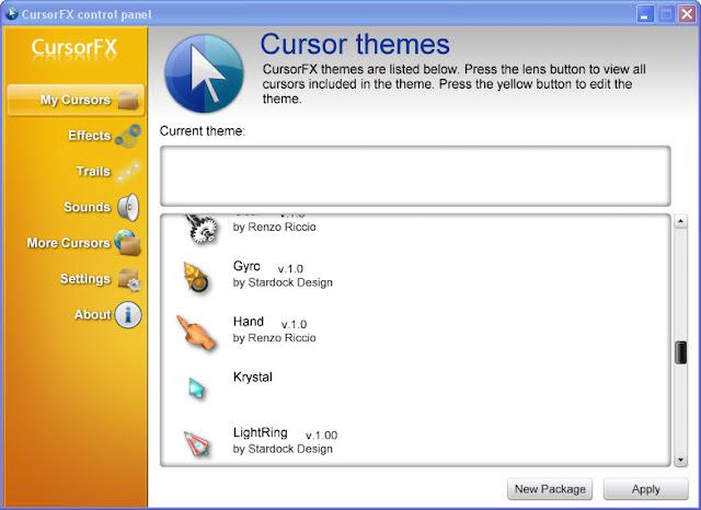 تحميل برنامج CursorFX لتغير شكل موس الكمبيوتر صوت النقرات