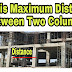 Maximum Distance between Two Column