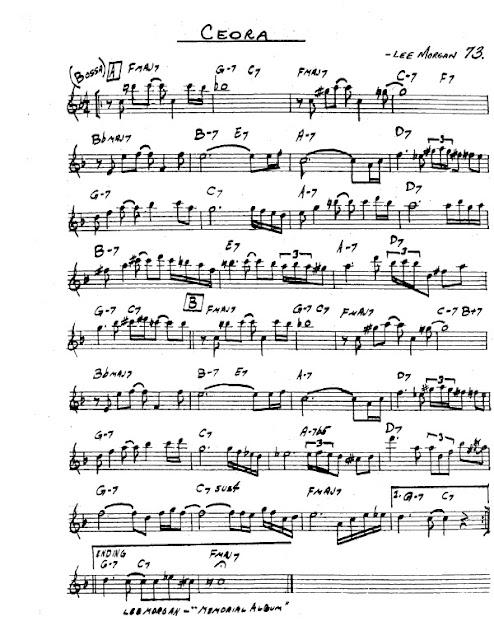 Partitura Saxofón Lee Morgan