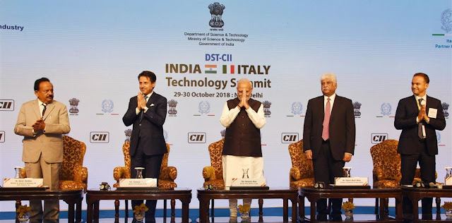 Prime Minister Modi addresses the India-Italy Technology Summit