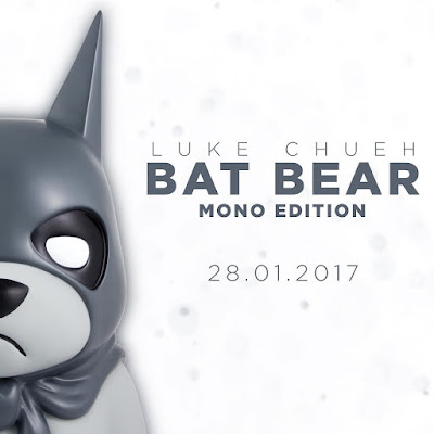 Bat Bear Mono Edition Resin Bust by Luke Chueh x Mighty Jaxx