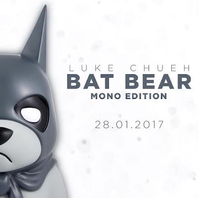 Bat Bear Mono Edition Resin Bust by Luke Chueh x Mighty Jaxx