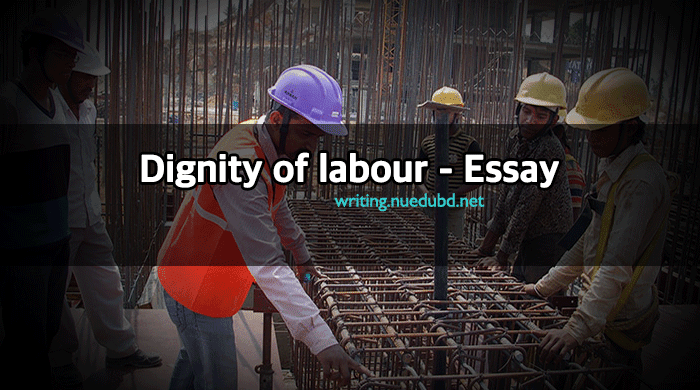 short essay on dignity of labour