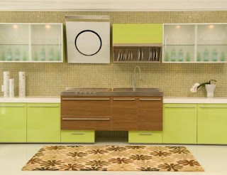 Green Brown Colors Kitchen Cabinets Ideas