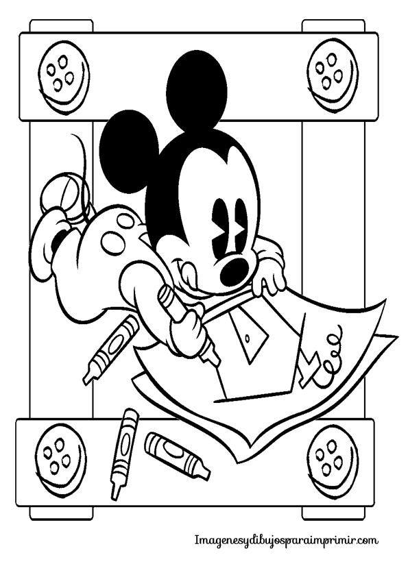 Imagenes De Mickey Bebe Para Colorear