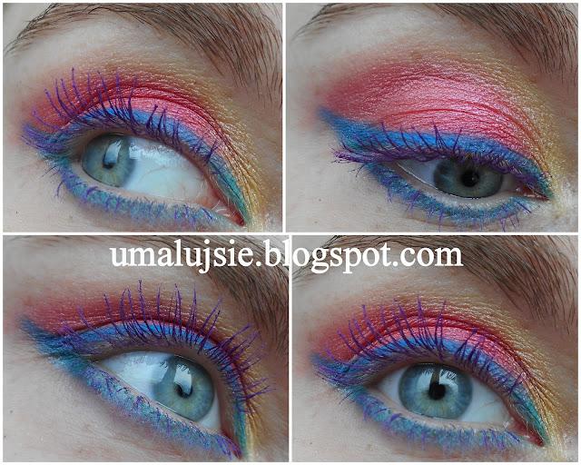 Kolorowy,letni,wakacyjny makijaż SKRZYDŁA MOTYLA