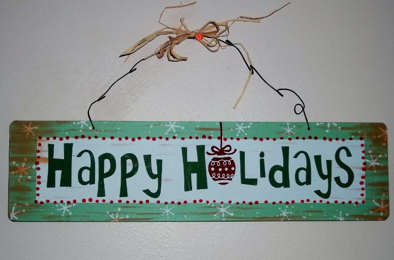 Saying to paint on country rustic signs Happy Holidays