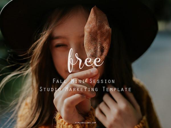 Free Fall Mini Session Studio Marketing Template