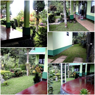 Taman Fasilitas Villa Hijau Panderman Kota Batu 4 Kamar