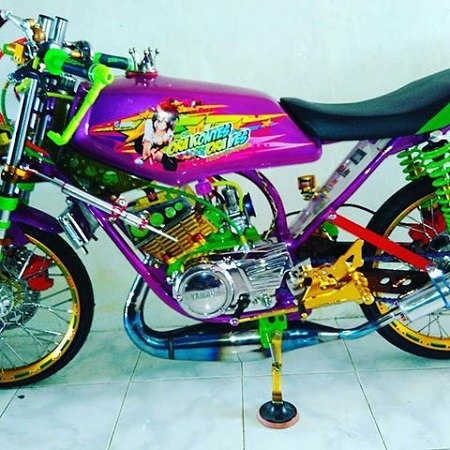 modifikasi motor yamaha rx king kobra