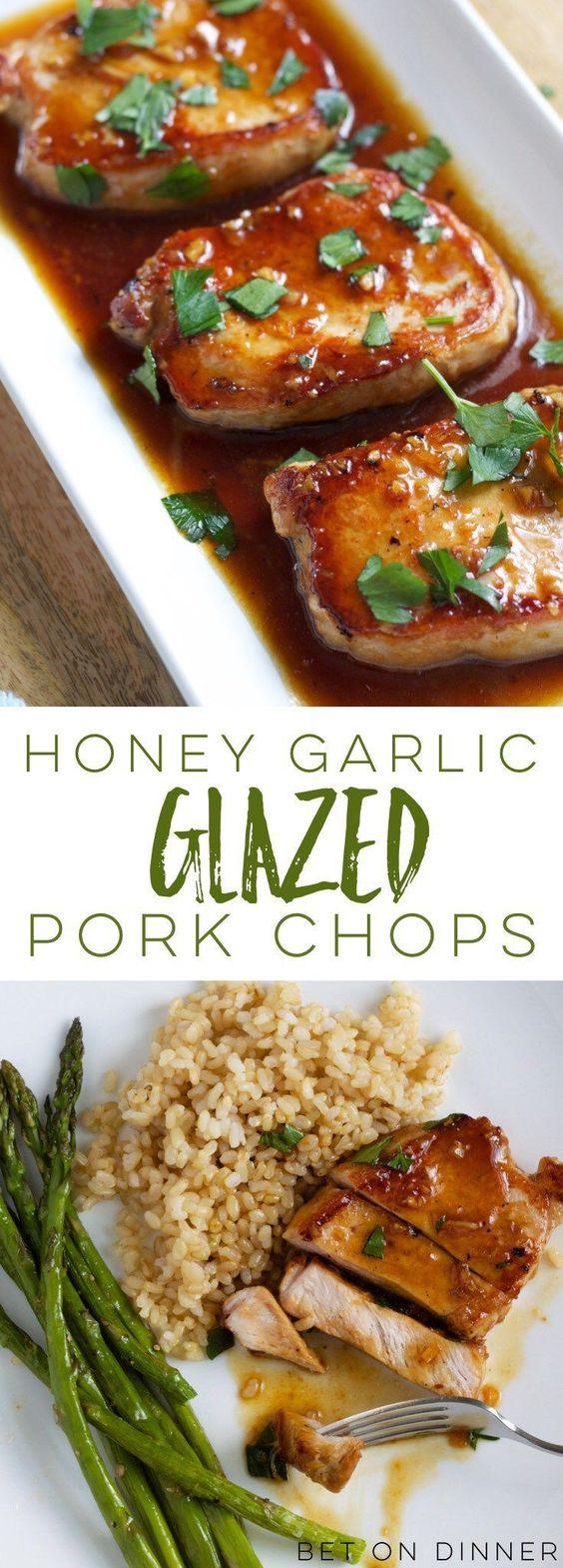 Recipe – Honey Garlic Pork Chops #recipe #honey #garlic #pork #chops #dinnerrecipes #dinnerideas #dinner