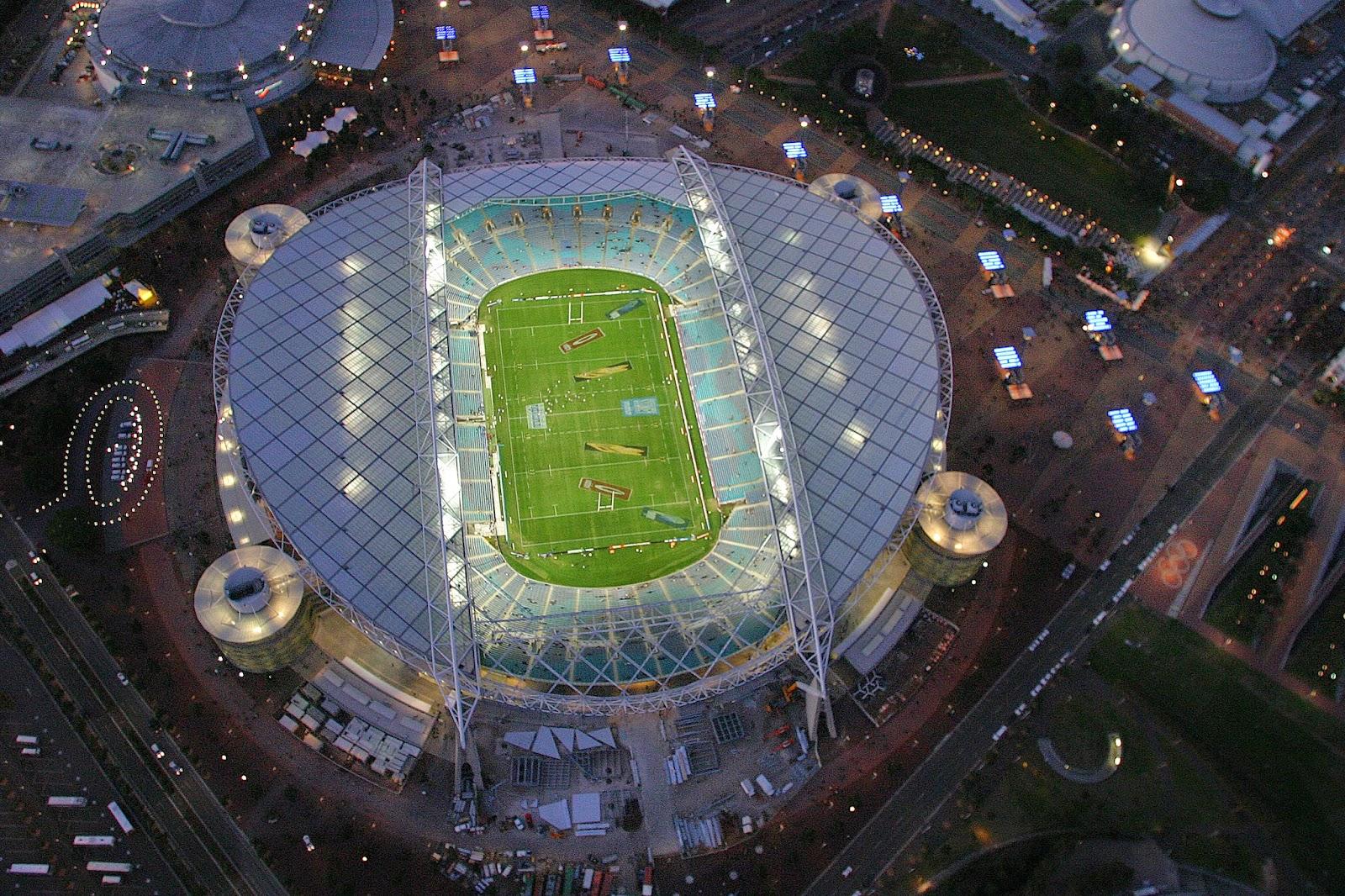 foto aerea dello Stadium Australia