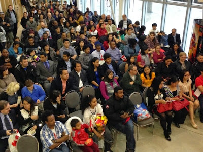 Canadian new citizenship ceremony