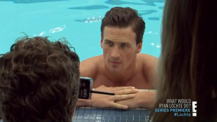 Male Celeb Screencaps: Ryan Lochte Shirtless Screencaps In