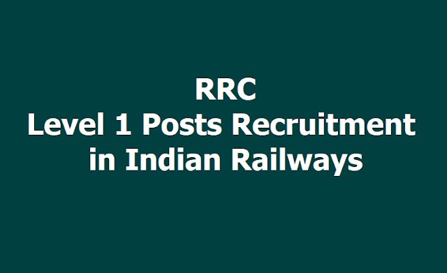 RRC Level 1 Posts