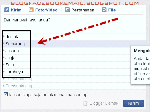cara membuat voting di grup facebook