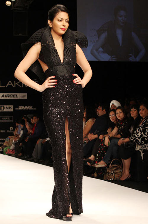Ankita Shorey for Jatin Varma1 -  Bollywood celebs at Lakme Fashion Week 2012