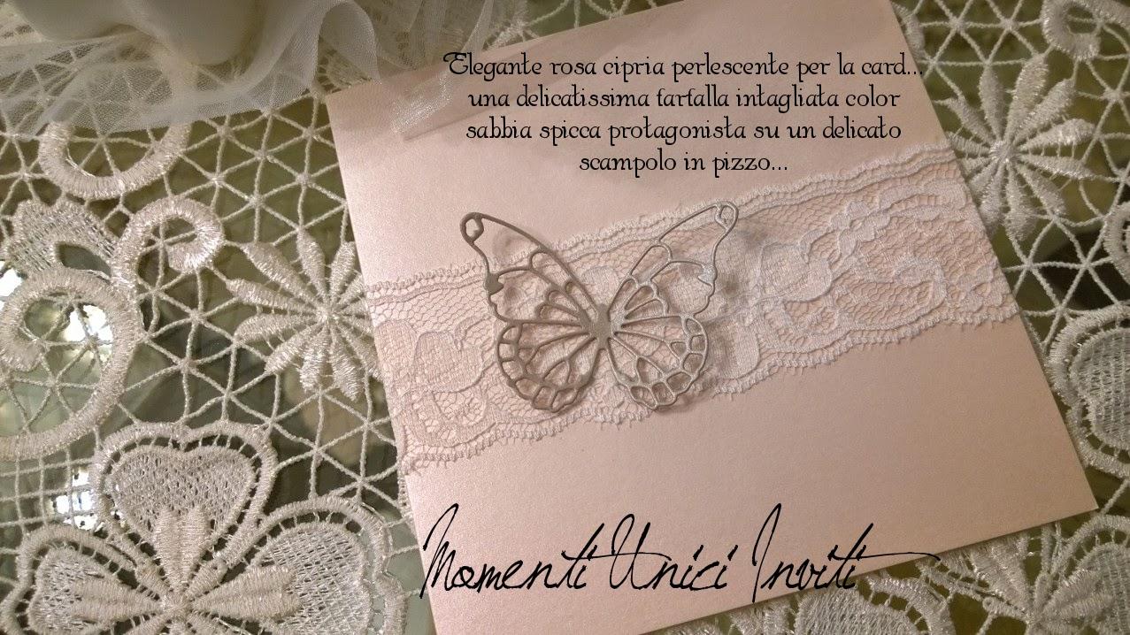 sa Partecipazione Rosa CipriaColore Rosa Cipria Partecipazioni Pizzo Tema Farfalle
