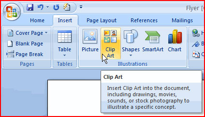 Image for Insert Clip Art in Word Document