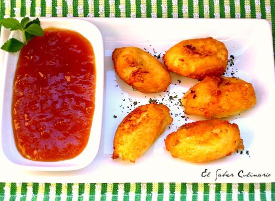 bunuelos-patata-queso-manchego-chutney-mango-receta-facil