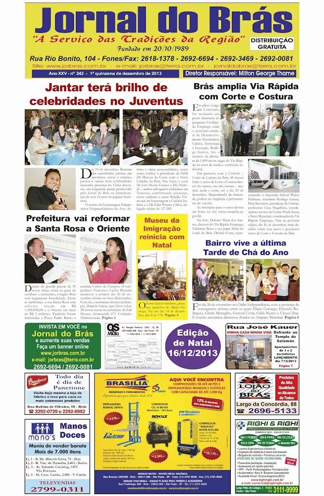 Destaques da Ed. 242 - Jornal do Brás