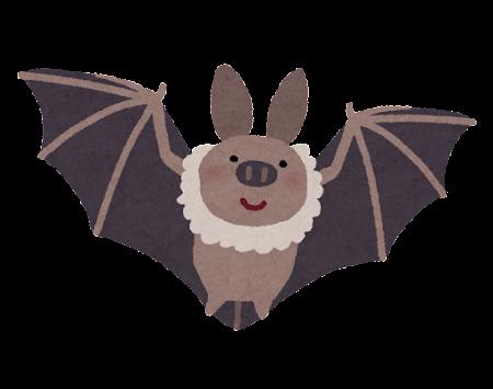 飛んでいるコウモリのイラスト
