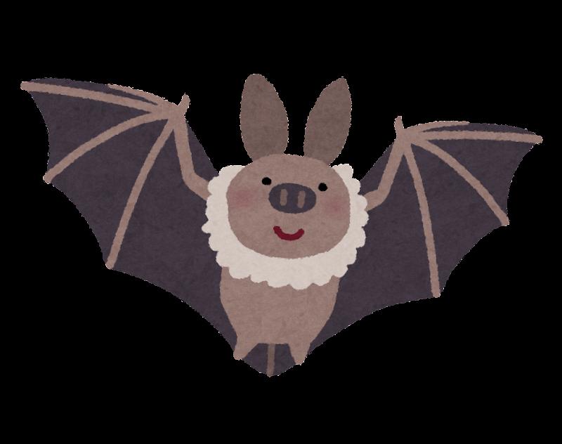 飛んでいるコウモリのイラスト かわいいフリー素材集 いらすとや