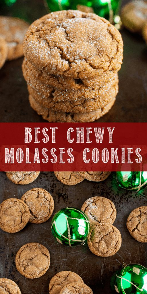 Best Chewy Molasses Cookies