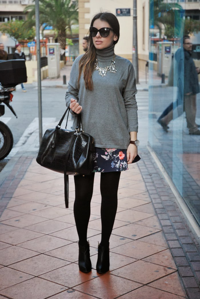 Floral Skirt StreetStyle