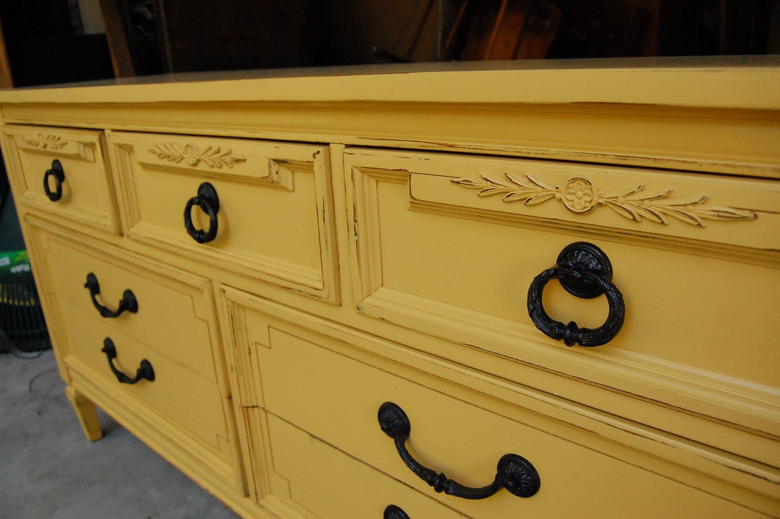 Fabulous Mustard Dresser (sold) - Lily Field Co. OE67