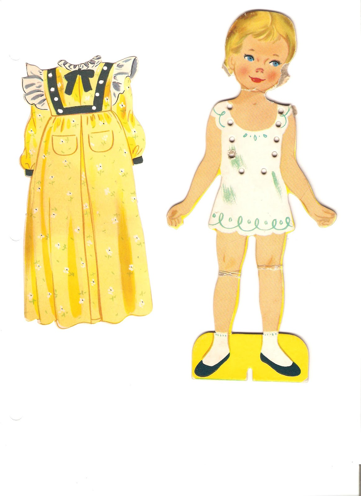 Miss Missy Paper Dolls Dolls With Lace On Clothes