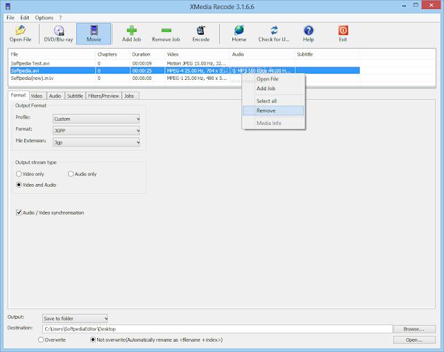 تحميل برنامج محول صيغ الفيديو والصوت مجانا XMedia Recode 3.3.0.2