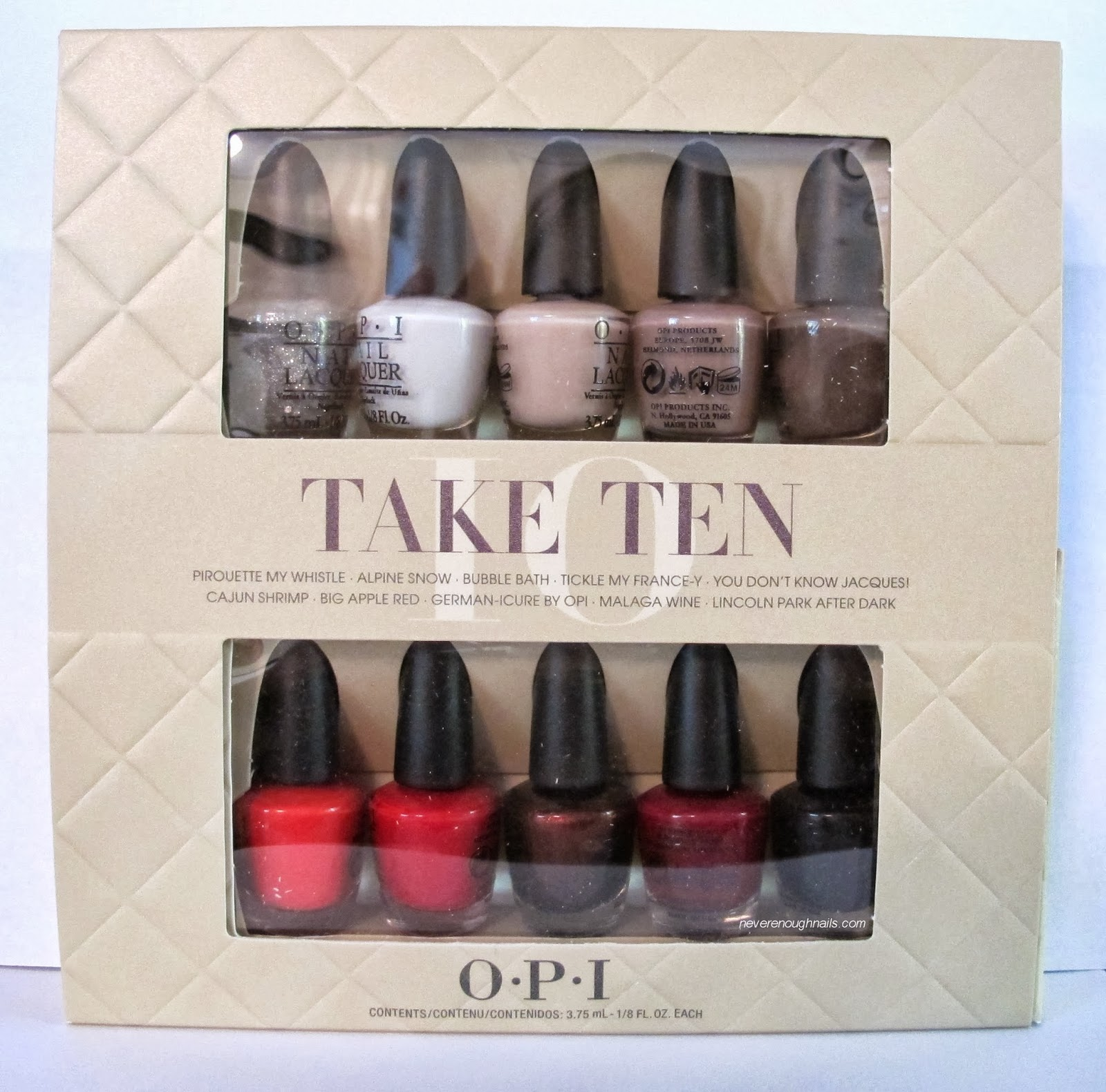 Never Enough Nails Opi Take Ten Holiday Minis Gift Set