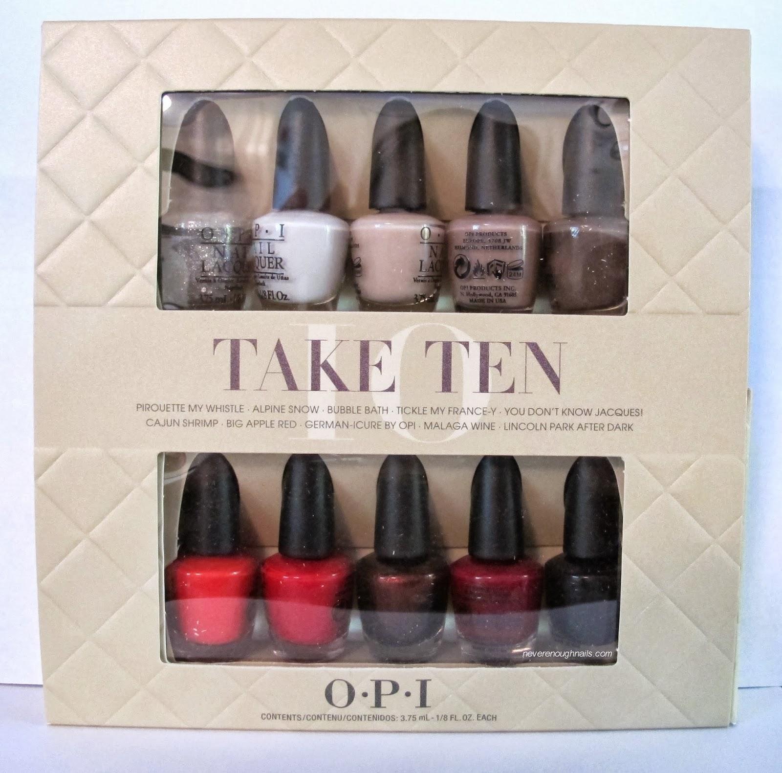 Never Enough Nails: OPI Take Ten Holiday Minis Gift Set!