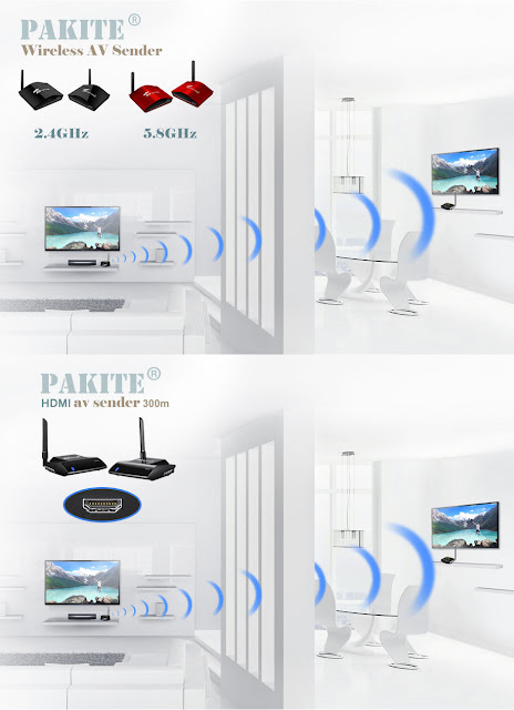 Watch TV in Another Room Without Running Cables by using wireless av sender