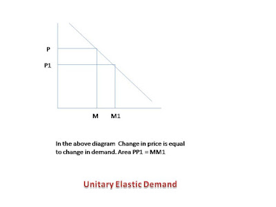 demand change is equal to change in price is called unitary elastic demand